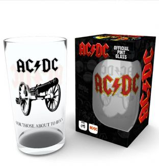 AC/DC - FOR THOSE ABOUT TO ROCK PINT GLASS (NEW/BOX) (PG002)